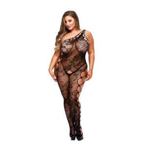 Baci - Off the Shoulder Bodystocking Queen Size 1/2