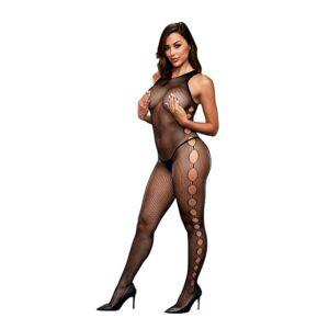 Baci - Open Side Sleeveless Bodystocking One Size 1/3