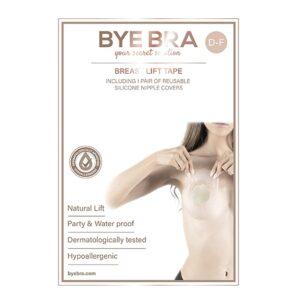 Bye Bra - Breast Lift & Fabric Nipple Covers D-F 1 Pair 1/3