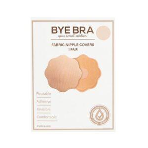 Bye Bra - Fabric Nipple Covers Nude 1 Pair 1/3