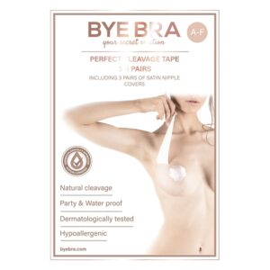 Bye Bra - Perfect Cleavage Tape A-F Nude 3-6 Pairs 1/4