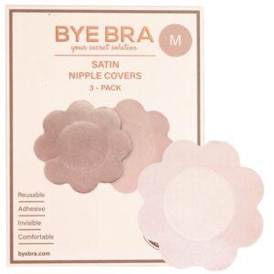 Bye Bra - Silk Nipple Covers Nude 3 Pairs 1/3