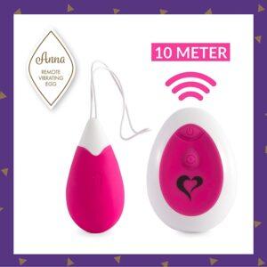 FeelzToys - Anna Vibrating Egg Remote Deep Pink 1/4
