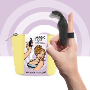 FeelzToys - Magic Finger Vibrator Black 1/3
