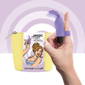 FeelzToys - Magic Finger Vibrator Purple 1/3
