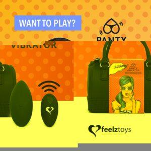 FeelzToys - Panty Vibe Remote Controlled Vibrator Black 1/3