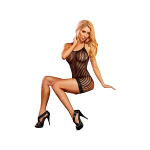 Lapdance - Lace Mini Dress Black 1/4