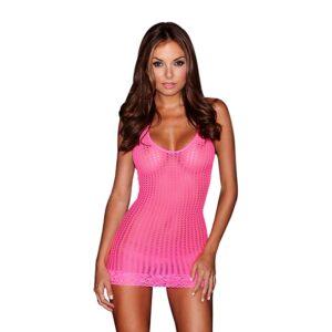 Lapdance - Lace Mini Dress Pink 1/3