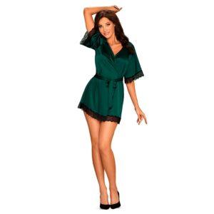 Obsessive - Sensuelia Robe Green S/M 1/4