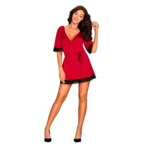 Obsessive - Sensuelia Robe Red XXL 1/4