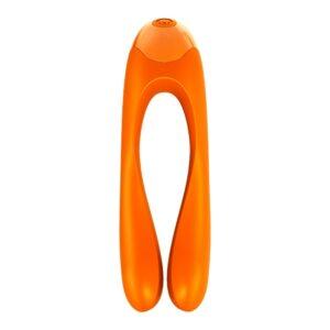 Satisfyer - Candy Cane Finger Vibrator Orange 1/3
